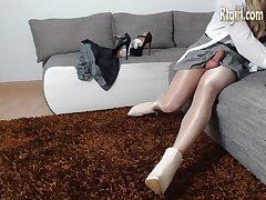 fetish loving transdoll with deep love of wetlook,high -heels,panthose and stockings